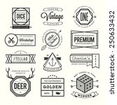 set of vintage logos  badges... | Shutterstock .eps vector #250633432
