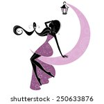 portrait of a beautiful fairy | Shutterstock .eps vector #250633876