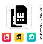 dual sim cards icon. vector...