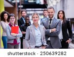 young multi ethnic business... | Shutterstock . vector #250639282