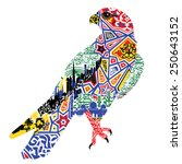 falcon of patterns and... | Shutterstock .eps vector #250643152