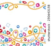 seamless horizontal gemstones... | Shutterstock .eps vector #250643158