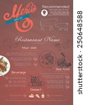 menu and icon design restaurant. | Shutterstock .eps vector #250648588