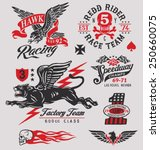 vintage racing insignia graphics | Shutterstock .eps vector #250660075