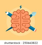 concept of creativity and... | Shutterstock .eps vector #250663822