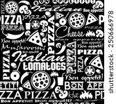 pizza seamless pattern.  ... | Shutterstock .eps vector #250666978