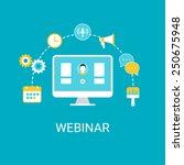 webinar  webcast  livestream ... | Shutterstock .eps vector #250675948