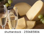 champagne  grapes and cheese   Shutterstock . vector #250685806