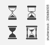hourglass icon set  four pieces ...   Shutterstock .eps vector #250686505