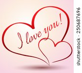 i love you. happy valentines... | Shutterstock .eps vector #250687696