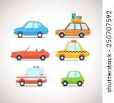 car flat icon set 1 | Shutterstock .eps vector #250707592