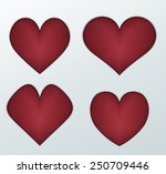 design four hearts | Shutterstock .eps vector #250709446