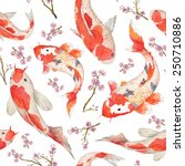 watercolor oriental pattern... | Shutterstock .eps vector #250710886