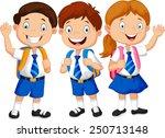 Illustration Of School Children