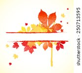 watercolor painted autumn... | Shutterstock .eps vector #250713595