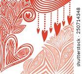 valentines day card illustration | Shutterstock . vector #250714348