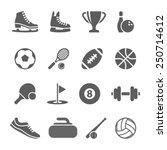sport icons | Shutterstock .eps vector #250714612