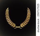 gold award laurel wreath on... | Shutterstock .eps vector #250717525