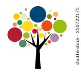 vector sign round colorful tree  | Shutterstock .eps vector #250722175