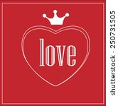 valentines day card | Shutterstock .eps vector #250731505