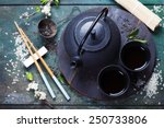 Chinese Tea Set And Chopsticks...