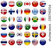world flags collection. 36 high ... | Shutterstock . vector #250740316