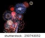 huge colorful fireworks display | Shutterstock . vector #250743052