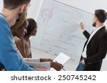 business meeting at office.... | Shutterstock . vector #250745242
