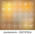 icons set | Shutterstock .eps vector #250747816