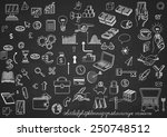 set of hand drown icons  on... | Shutterstock .eps vector #250748512