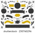 a set of vintage style design... | Shutterstock .eps vector #250760296