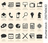 vector set of advertising icons.... | Shutterstock .eps vector #250760632