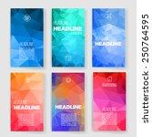 templates. design set of web ... | Shutterstock .eps vector #250764595
