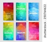 templates. design set of web ... | Shutterstock .eps vector #250764622