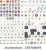 logo mega collection  abstract... | Shutterstock .eps vector #250768045