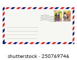 Postage Envelope With Butterfl...