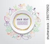 fresh fruit and vegetable frame.... | Shutterstock .eps vector #250770052