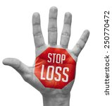stop   red sign painted on open ... | Shutterstock . vector #250770472