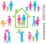 family concepts  father  mother ... | Shutterstock .eps vector #250771762