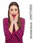 surprised young woman | Shutterstock . vector #250772902