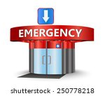 emergency building as a concept ... | Shutterstock .eps vector #250778218