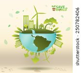 ecology concept vector | Shutterstock .eps vector #250782406