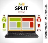 split testing a b comparison...   Shutterstock .eps vector #250786036