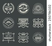 retro design insignias... | Shutterstock .eps vector #250786102