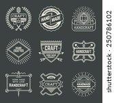 retro design insignias... | Shutterstock .eps vector #250786102