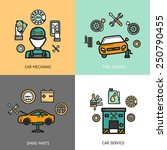 auto service design concept set ... | Shutterstock .eps vector #250790455