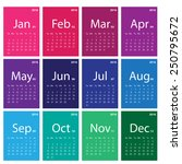 2016 calendar simple design | Shutterstock .eps vector #250795672