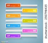 list bar options art info ...   Shutterstock .eps vector #250798435