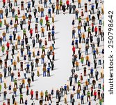 large group of people in letter ... | Shutterstock .eps vector #250798642