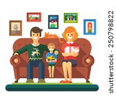 happy family  cheerful child ... | Shutterstock .eps vector #250798822